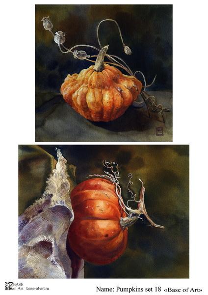 Декупажная карта Base of art, 20*30 см, Pumpkins set 18