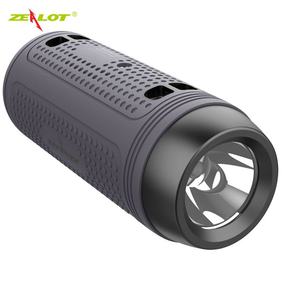 Портативная колонка для велосипеда со встроенным фонариком - Zealot A1