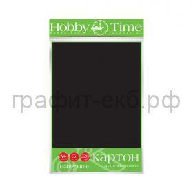 Картон цв.А4 220гр/м2 крашенный в массе черный Альт HobbyTime 2-063/15