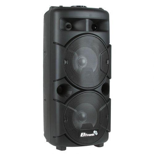 Портативная акустическая караоке колонка ELTRONIC EL20-24 CRAZY BOX 60 Вт, USB, MP3, FM радио, пульт ДУ, караоке