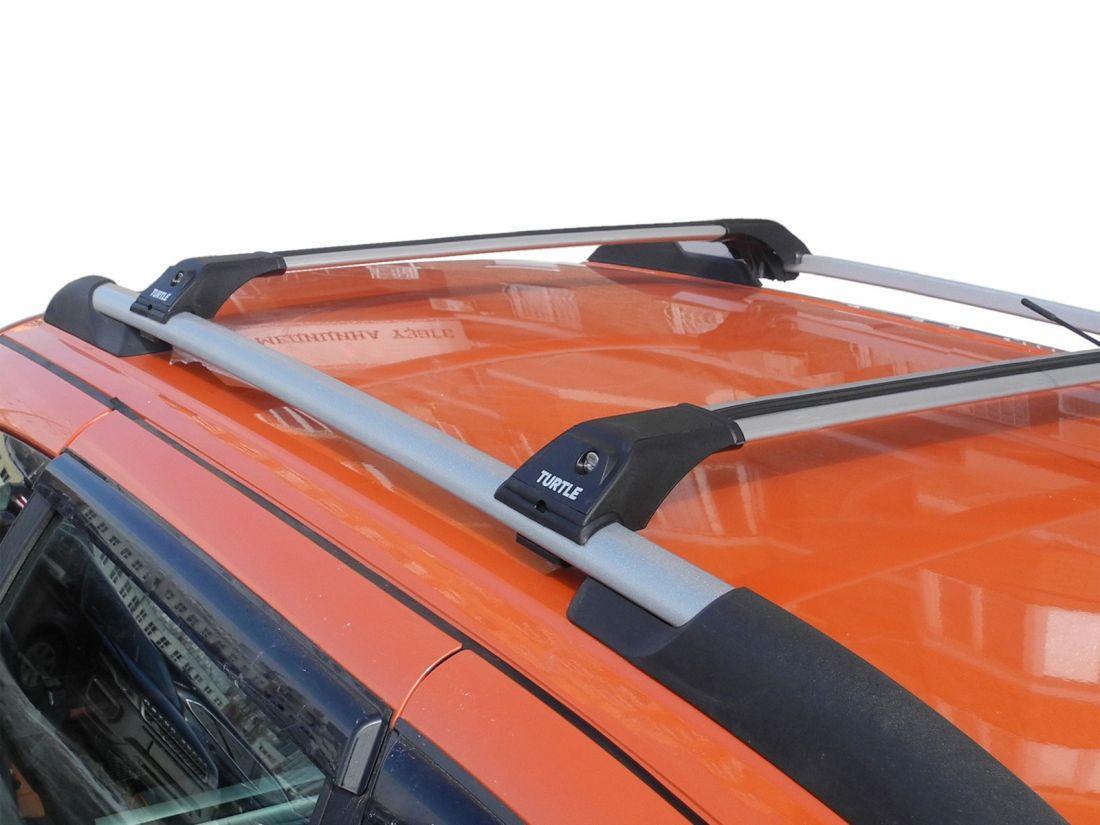 Багажник Turtle Tourmaline V1 серебристый на рейлинги, производство Turtle (Турция)