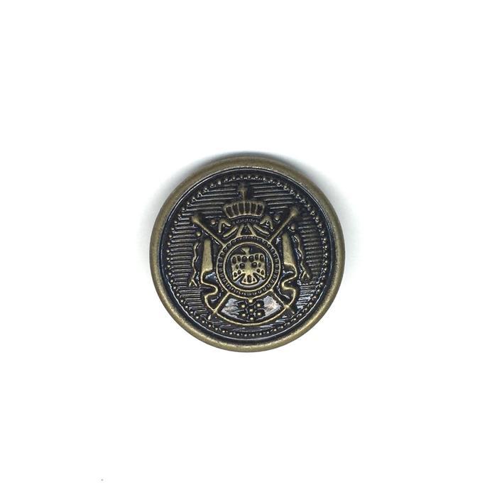Пуговица Герб 33L на ножке металл цвет античная бронза (ПР95)