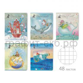 Тетрадь А5 48л.кл.Альт ВОЛШЕБНЫЕ МИРЫ Soft Touch 7-48-930