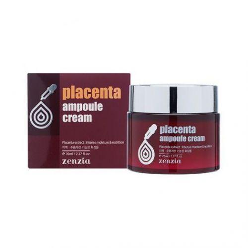 030393 ZENZIA Плацентарный крем для лица Placenta Ampoule Cream