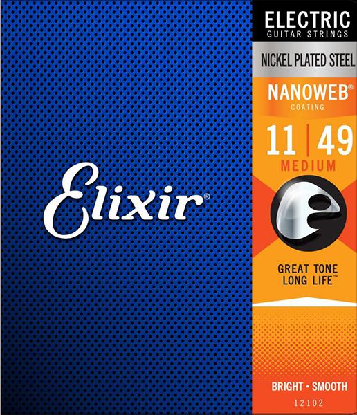 ELIXIR 12102 NANOWEB (011-049) Струны для электрогитары
