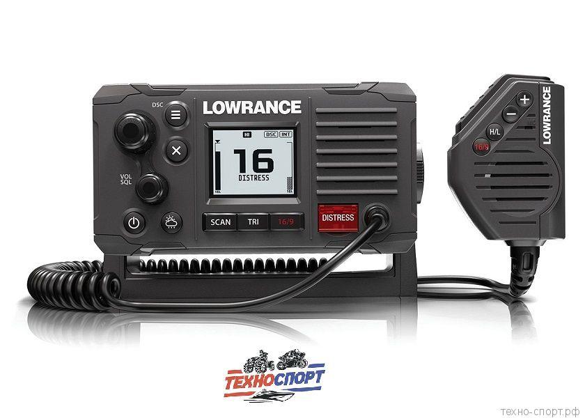 Радиостанция Lowrance встроенный GPS. ЖК-дисплей высокой четкости с инвертированным ночным режимом.