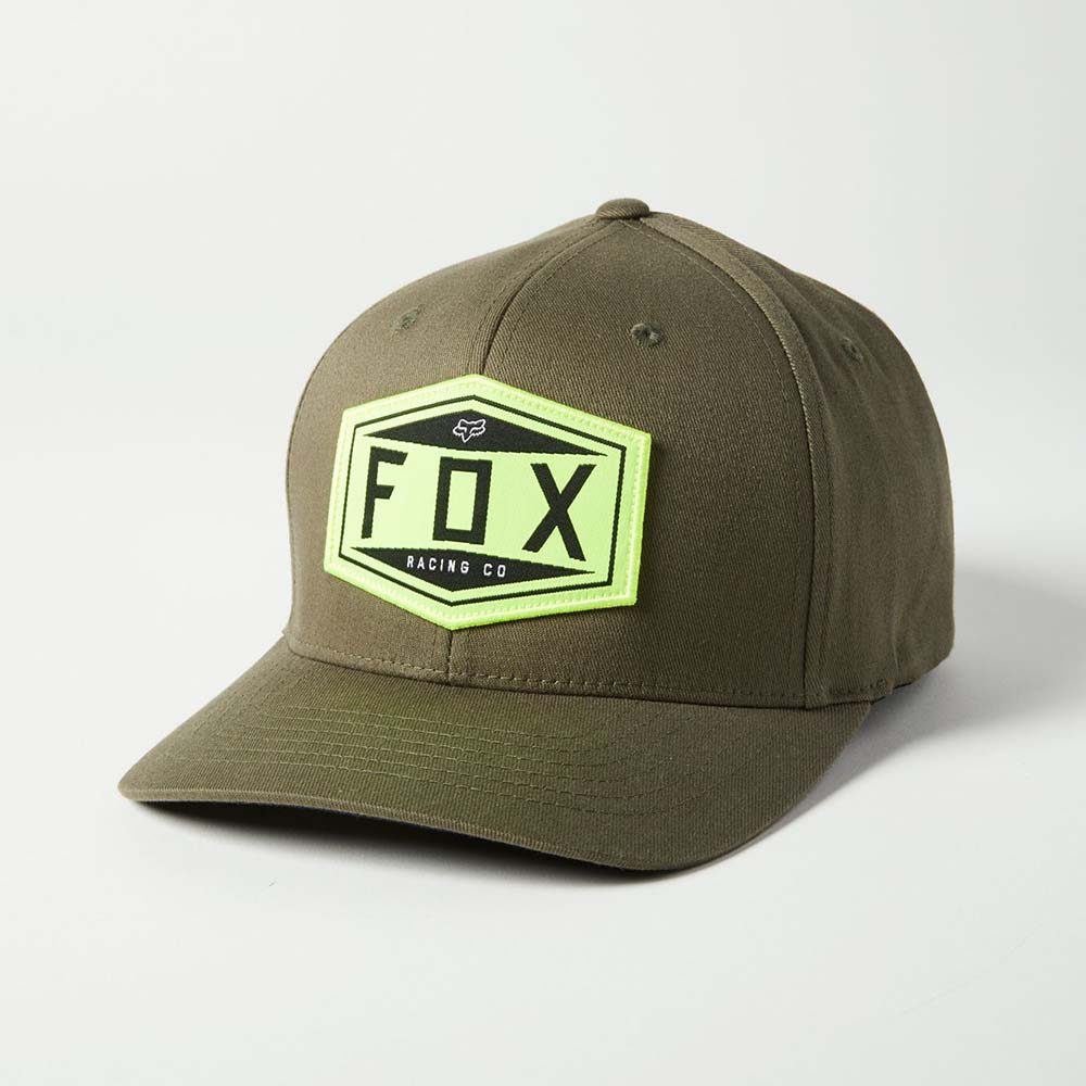 Fox Emblem Flexfit Olive Green бейсболка
