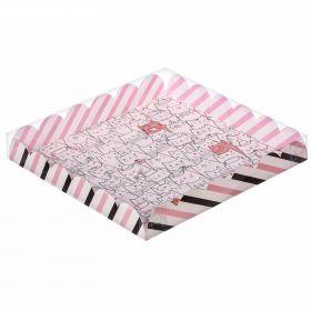 Коробка для кондитерских изделий с PVC-крышкой «Котики», 18 × 18 × 3 см