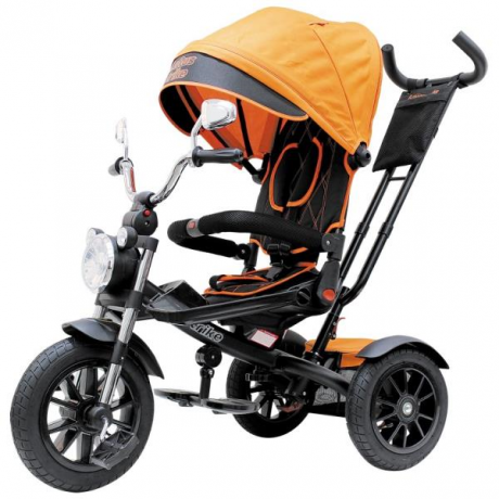 """Велосипед 3 кол. Lexus trike Moto,12 и 10"""" оранжевый 2021"""