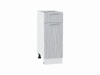 Шкаф нижний с 1-ой дверцей и ящиком Валерия Н301 в цвете серый металлик дождь