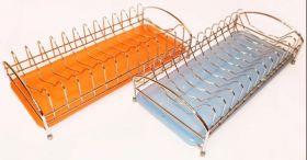 Сушилка д/посуды металлическая c поддоном, 1 ярус