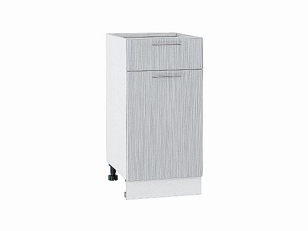 Шкаф нижний Валерия Н401 (серый металлик дождь)