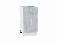 Шкаф нижний с 1-ой дверцей и ящиком Валерия Н401 в цвете серый металлик дождь