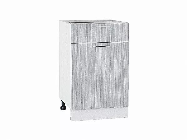 Шкаф нижний Валерия Н501 (серый металлик дождь)