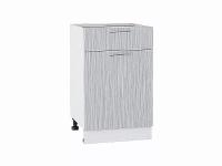 Шкаф нижний с 1-ой дверцей и ящиком Валерия Н501 в цвете серый металлик дождь