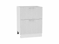 Шкаф нижний с 2-мя ящиками Валерия Н602 в цвете серый металлик дождь