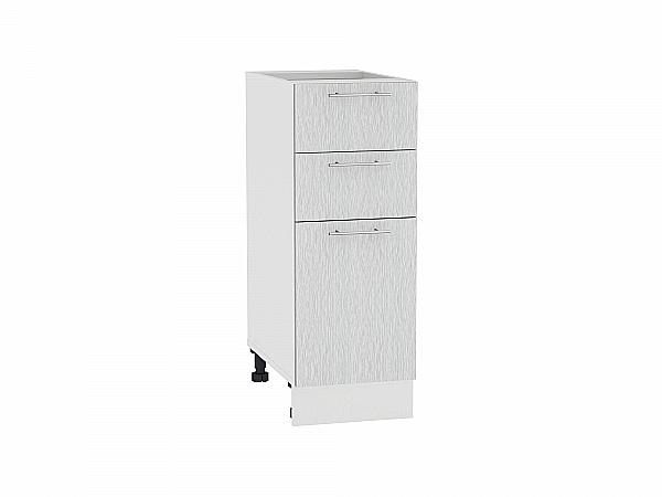 Шкаф нижний Валерия Н303 (серый металлик дождь)
