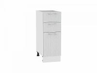 Шкаф нижний с 3-мя ящиками Валерия Н303 в цвете серый металлик дождь