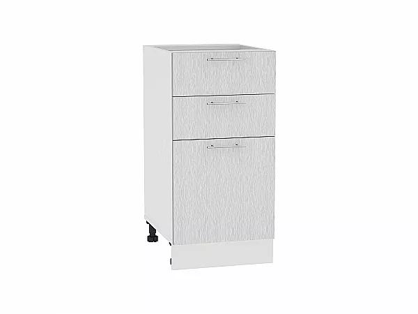 Шкаф нижний Валерия Н403 (серый металлик дождь)