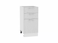 Шкаф нижний с 3-мя ящиками Валерия Н403 в цвете серый металлик дождь