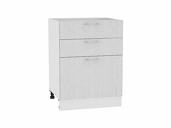 Шкаф нижний Валерия Н603 (серый металлик дождь)
