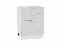 Шкаф нижний с 3-мя ящиками Валерия Н603 в цвете серый металлик дождь