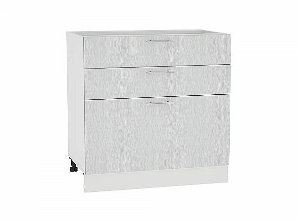 Шкаф нижний Валерия Н803 (серый металлик дождь)