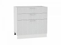 Шкаф нижний с 3-мя ящиками Валерия Н803 в цвете серый металлик дождь