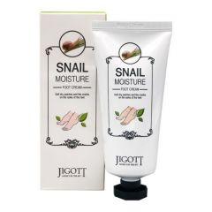 971203 JIGOTT Увлажняющий крем для ног с улиточным муцином Snail Moisture Foot Cream