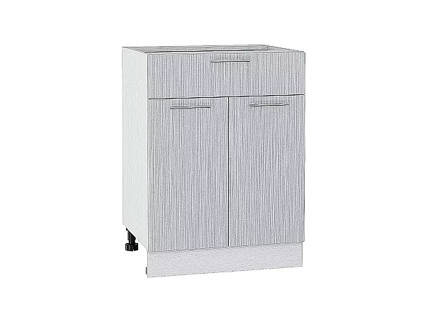 Шкаф нижний Валерия Н601 (серый металлик дождь)