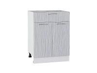 Шкаф нижний с 2-мя дверцами и ящиком Валерия Н601 в цвете серый металлик дождь