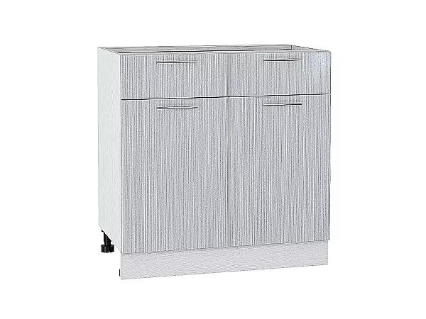 Шкаф нижний Валерия Н801 (серый металлик дождь)