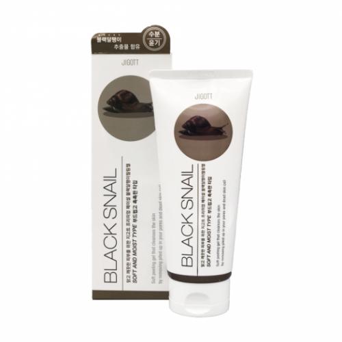 280054 JIGOTT Гель с муцином черной улитки Premium Facial Black Snail Peeling Gel