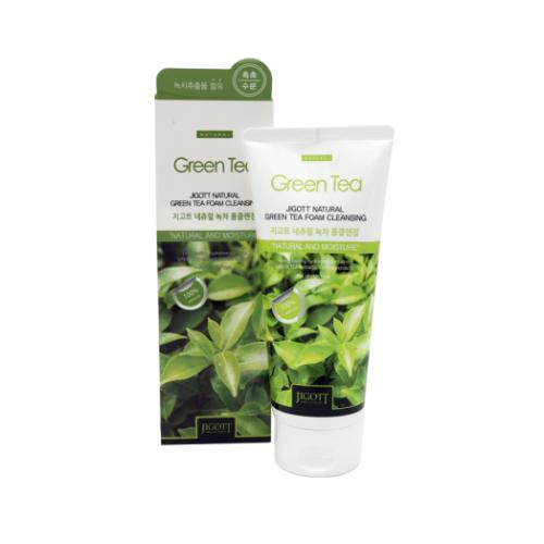 281549 JIGOTT Пенка для умывания с экстрактом зеленого чая Natural Green Tea Foam Cleansing