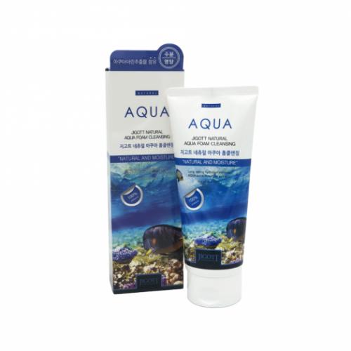 110950 JIGOTT Пенка для умывания с аквамарином Natural Aqua Foam Cleansing