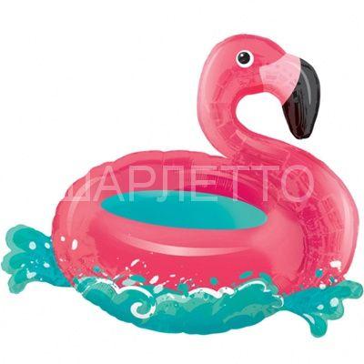 """Шар фигура """"Фламинго на воде"""""""
