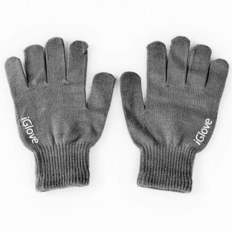 Перчатки iGlove для работы с сенсорными и емкостными экранами, цвет серый