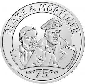 75 лет комиксам «Блейк и Мортимер»5 евро Бельгия  2021 блистер на заказ