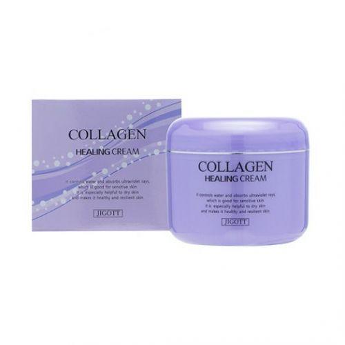 036524 JIGOTT Питательный ночной крем с коллагеном Collagen Healing Cream