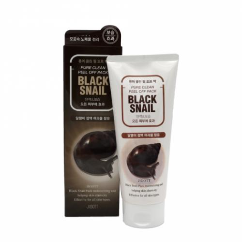 280016 JIGOTT Очищающая маска-плёнка с муцином черной улитки Black Snail Pure Clean Peel Off Pack