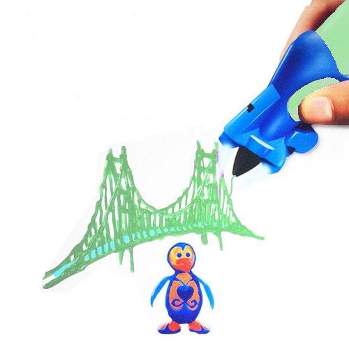 3D ручка Creative Drawing Pen, цвет зеленый - это современное устройство для взрослых и детей, позволяющее рисовать объемные картины и 3D объекты.