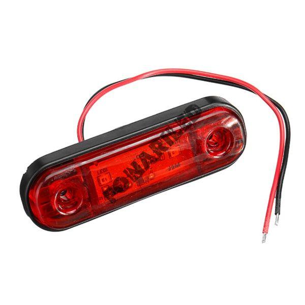 Светодиодные габариты на прицеп GF-U-3SMD-Red красный