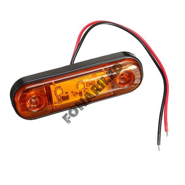 Светодиодные габариты на прицеп GF-U-3SMD-Orange оранжевый