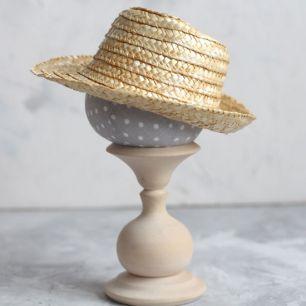 Кукольный аксессуар - Шляпка соломенная 17 см.