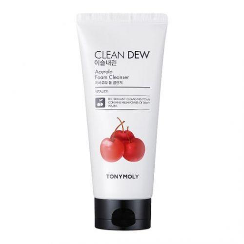 5157 TONYMOLY Очищающая пенка для умывания с экстрактом ацелоры CLEAN DEW Acerola Foam Cleanser
