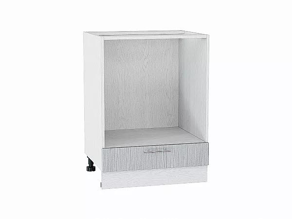 Шкаф нижний под духовку Валерия НД600 (серый металлик дождь)