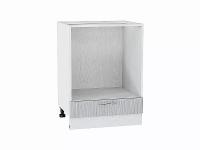 Шкаф нижний под духовку Валерия НД600 в цвете серый металлик дождь