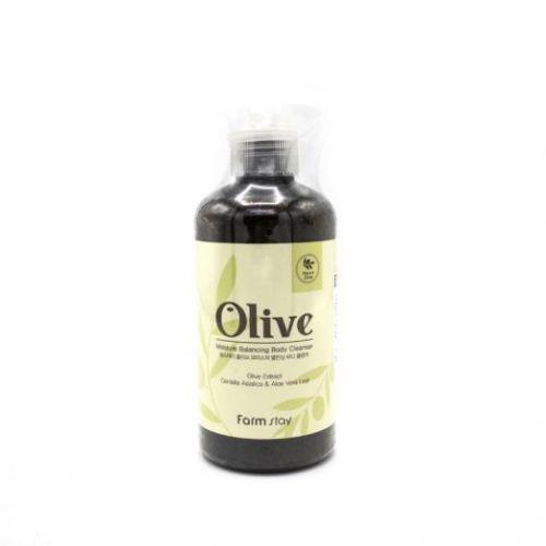 881088 FarmStay Увлажняющий гель для душа с экстрактом оливы Olive Moisture Balancing Body Cleanser