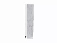 Шкаф пенал с 2-мя дверцами Валерия ШП400Н в цвете серый металлик дождь