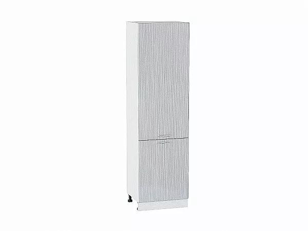 Шкаф пенал с 2-мя дверцами Валерия ШП600 (серый металлик дождь)